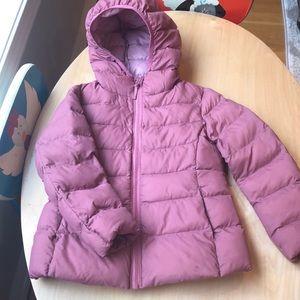 Pink Uniqlo Puffer Jacket
